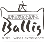 Ballis - wine and rusks in Tinos